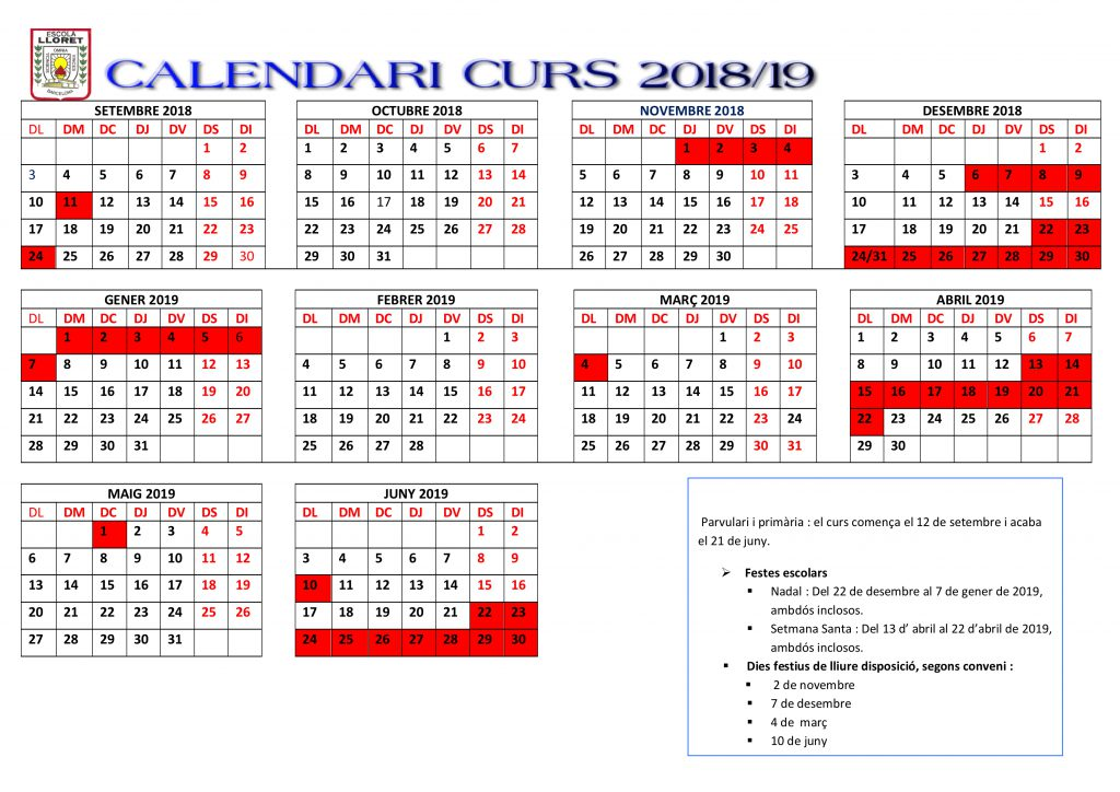 calendari curs 2018-2019 WEB