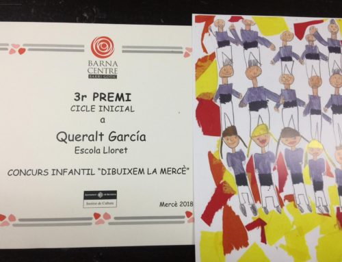 "Premi ""Dibuixem la Mercè""."